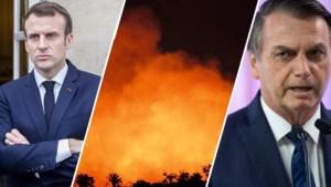 Wereldleiders zetten president Bolsonaro onder druk om brand in Amazonewoud te blussen