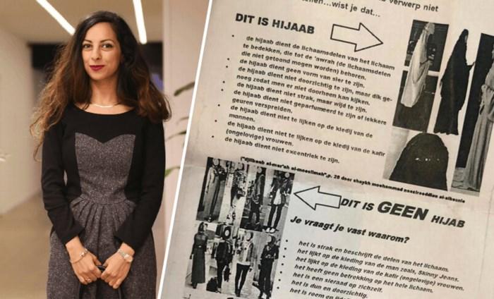 Politica krijgt pamflet in handen geduwd: 'Zo moet je een hijab dragen'