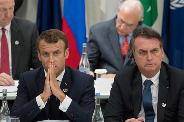 Macron kapittelt Bolsonaro na affront aan zijn vrouw