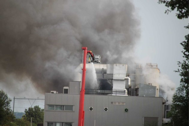 Grote brand in biomassacentrale in Sittard onder controle