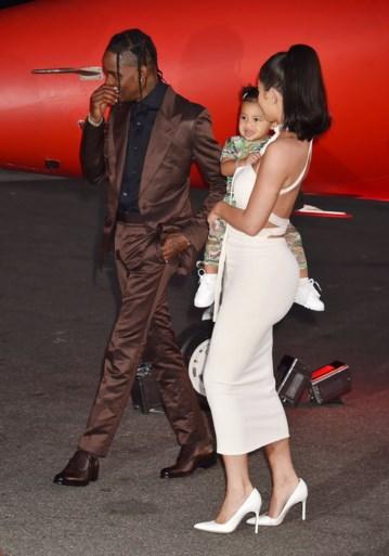 Dochter Kylie Jenner voor het eerst op de rode loper