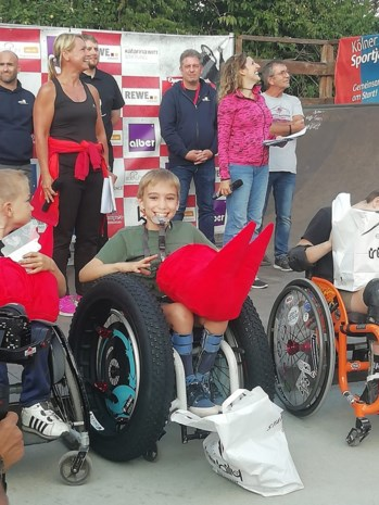 Hasselaar Isaak (10) haalt zilver op WK rolstoelskaten