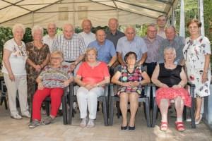 80-jarigen samen in Oostham