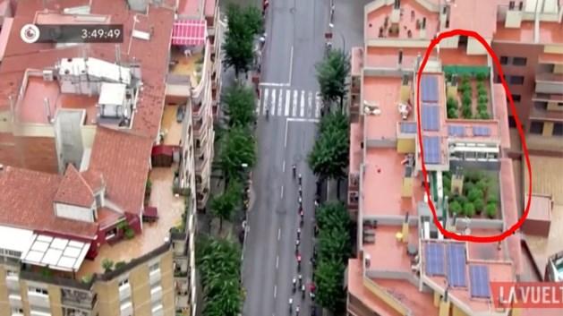 Ook dit is de Vuelta: tv-helikopter ontdekt wietplantage op terras van flatgebouw