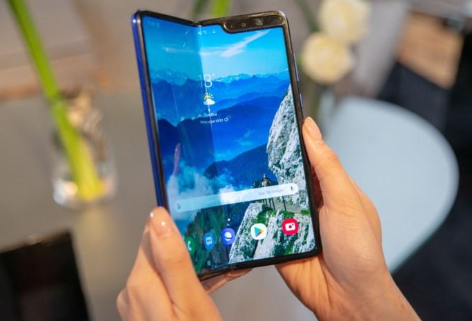 Plooibare smartphone van Samsung ligt vrijdag in eerste winkelrekken