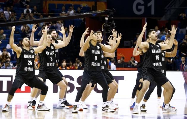 Nieuw-Zeelandse basketters pakken uit met haka