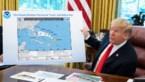 Donald Trump tekent extra stukje op kaart van orkaan Dorian om fout niet te hoeven toegeven