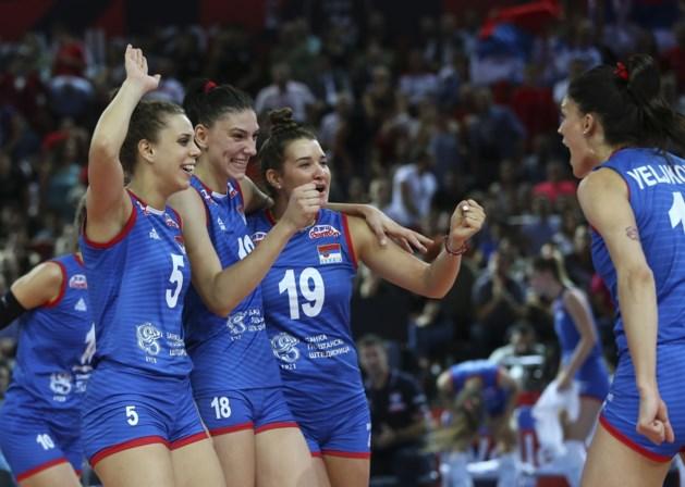 Servië verlengt Europese volleybaltitel na nipte zege tegen Turkije
