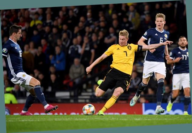 HERBELEEF. Een sterke De Bruyne leidt de Belgen met 0-4 voorbij Schotland