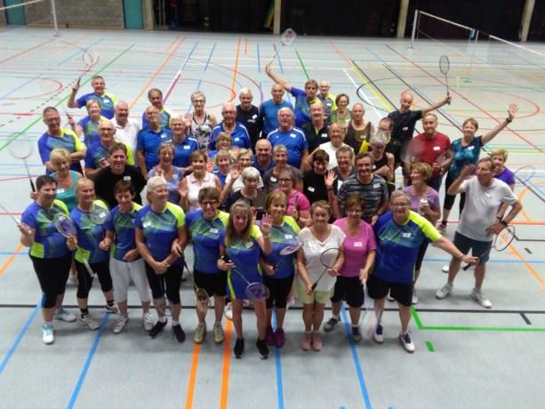 Zonhoven 55  houdt badmintonontmoeting