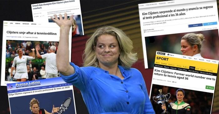 Zo straf is de comeback van Kim Clijsters: van IJsland over Cuba, van Chili tot Australië, de hele wereld praat erover
