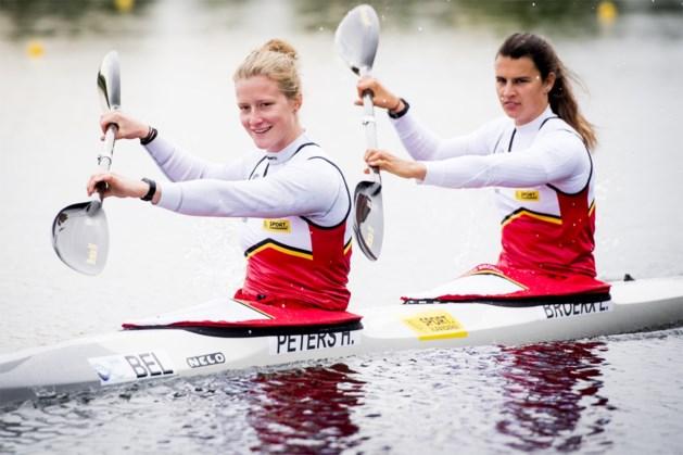 Hermien Peters en Lize Broekx ook in K1 naar halve finales op Olympisch testevent kajak