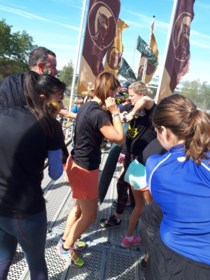 Kim Clijsters 'traint' in Genkse Spartacus Thor