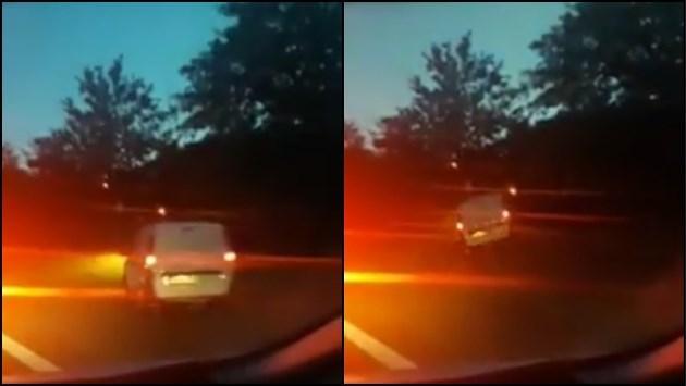 VIDEO. Bestuurder is file op Noord-Zuid beu en rijdt via berm parallelweg op