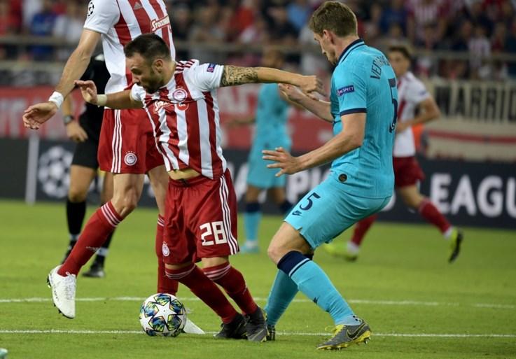 Tottenham begint met gelijkspel aan Champions League na strafschopfout van Jan Vertonghen