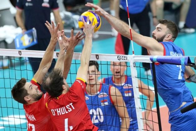 Dappere Red Dragons verliezen voor het eerst op EK volleybal: kansloos tegen titelpretendent Servië