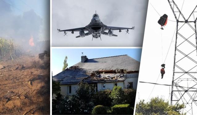 Belgische F-16-piloot gered van hoogspanningslijn