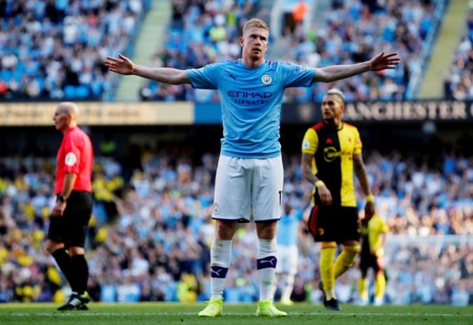 Man City en De Bruyne peuzelen Watford op: 8-0-zege, al 5-0 na amper 18 minuten