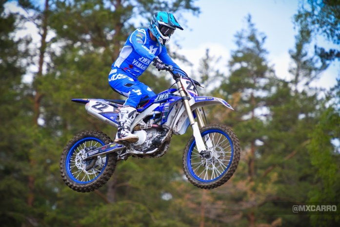 Strijbos op Wilvo-motor in Motorcross der Naties