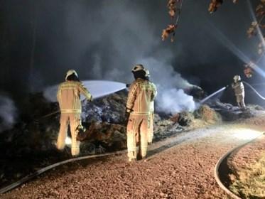 Stapel maaisel vermoedelijk in brand gestoken in Kanne
