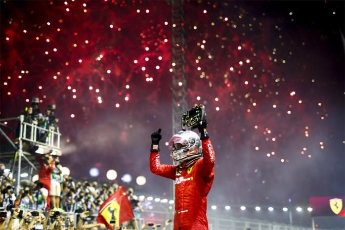 """Vettel kan na 392 dagen nog eens winnen, Leclerc vindt zege """"unfair"""""""
