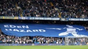 """Chelsea-supporters lijken Eden Hazard te eren met spandoek, maar de waarheid is anders: """"Dit ging op een dag eens gebeuren"""""""
