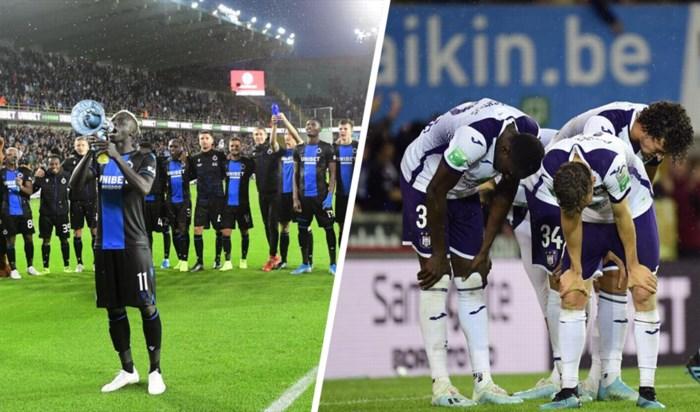 Ook de cijfers bewijzen: het verschil tussen Anderlecht en Club Brugge was nooit zo groot