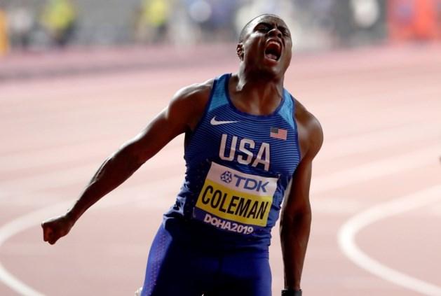 Christian Coleman geeft forfait voor 200m op WK atletiek, daags na zijn wereldtitel op de 100m