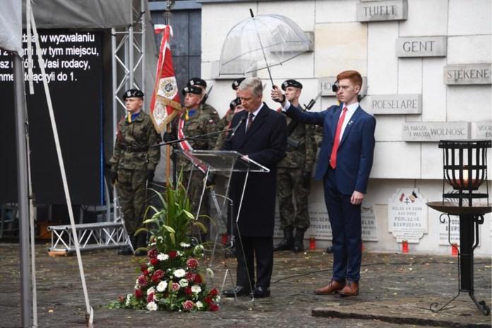 Koning Filip en Poolse president wonen plechtigheid in Lommel bij