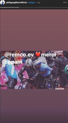 """Topfavoriet Philippe Gilbert in tranen na opgave, Remco Evenepoel met hartverwarmend bericht: """"Sorry champ"""""""