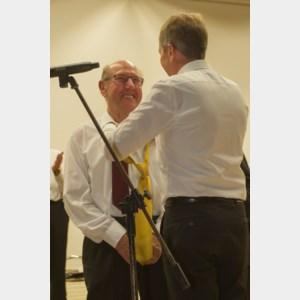Lambert Henkens is 50 jaar lid van het Sint-Martinuskoor Kinrooi