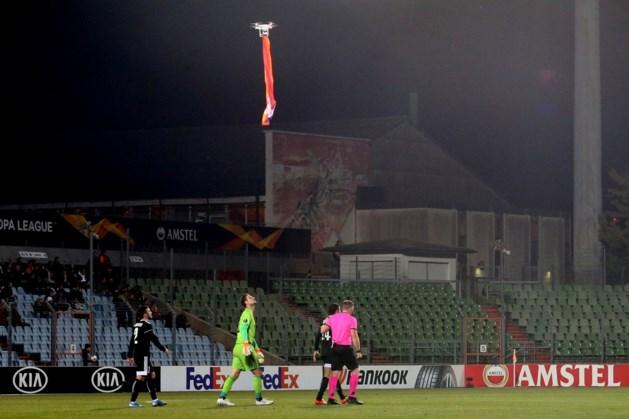 Duel in Europa League stilgelegd door drone met vlag van Nagorno-Karabach