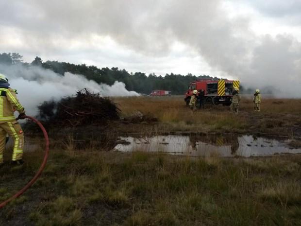 Grote brandoefening op militair domein in Leopoldsburg