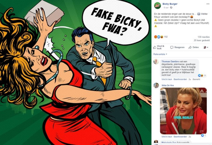 """Bicky Burger krijgt kritiek door """"vrouwonvriendelijke"""" reclamecampagne"""