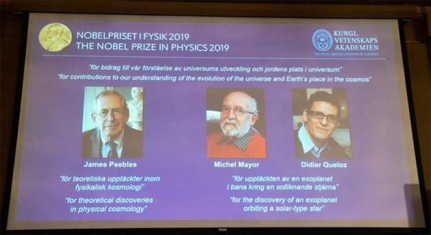 Nobelprijs voor Natuurkunde gaat naar Amerikaan en twee Zwitsers