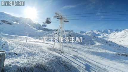 VIDEO. Eerste sneeuw in Val Thorens!
