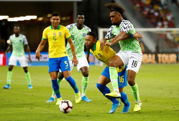 Brazilië kan na uitvallen Neymar ook niet winnen van Nigeria