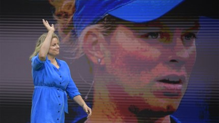 """Kim Clijsters bedankt fans: """"Fantastisch om weer op het veld te staan"""""""