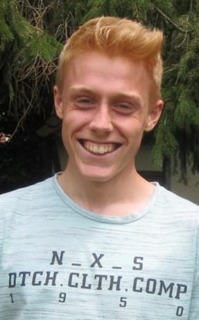 Simon Ferson (18) laat zich opmerken tijdens Dwars door Hasselt