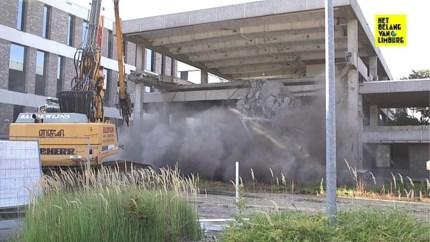 Spectaculaire beelden: iconisch gebouw Het Belang van Limburg wordt afgebroken