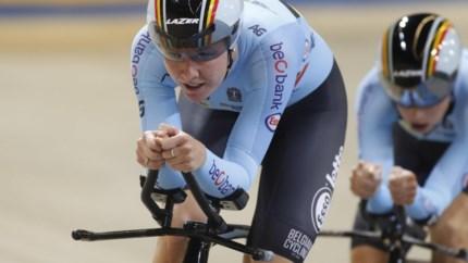 EK BAANWIELRENNEN. Belgische vrouwen grijpen in ploegenachtervolging ondanks recordtijd naast medaille
