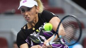 Elise Mertens ziet Clijsters indruk maken op training: