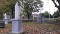 Vernielde heiligenbeelden kasteeltuin Edelhof terug in ere hersteld