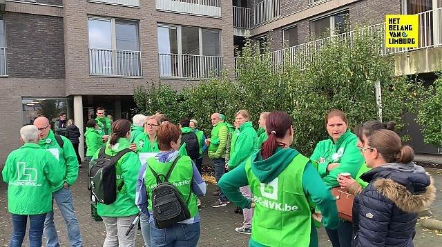 Boze verplegers en zorgkundigen Armonea op straat