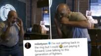Bokslegende Mike Tyson is 53, maar kan nog stevig uithalen