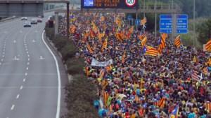 Honderdduizenden betogers leggen openbaar leven in Barcelona lam