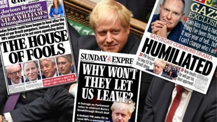 """""""The house of fools"""": zo kijken de Britse kranten naar de uppercut voor Boris Johnson"""