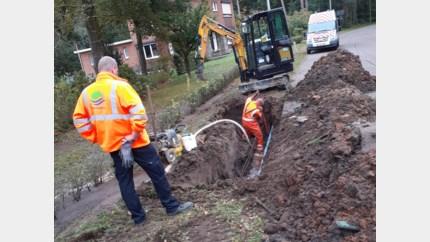 Straten in Linkhout en Zelem zonder water na waterlek