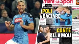 Dries Mertens siert de Italiaanse voorpagina's, maar waarom vierde hij zijn historische goals op die vreemde manier?