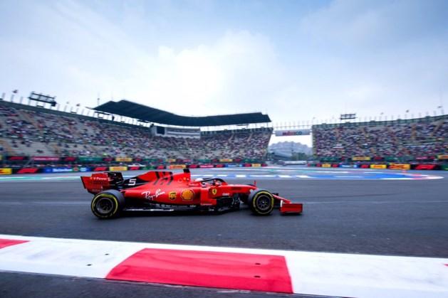Sebastian Vettel snelste in Mexico, teamgenoot Max Verstappen crasht